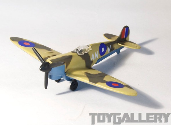 Spitfire top front view