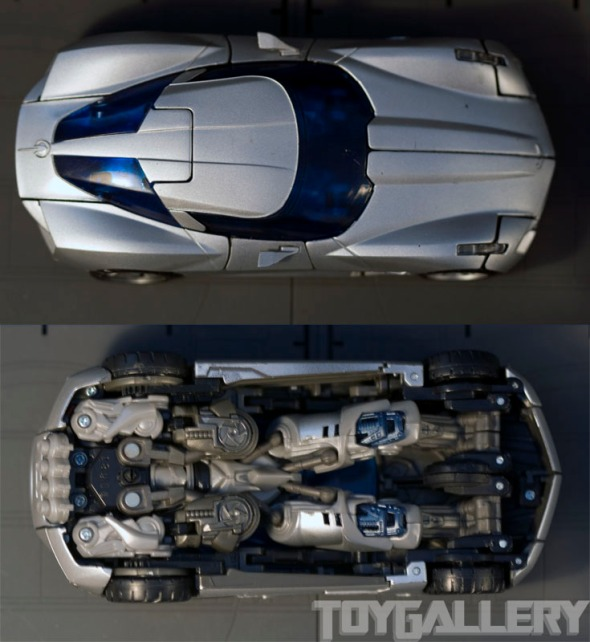 Sideswipe: Top and bottom view