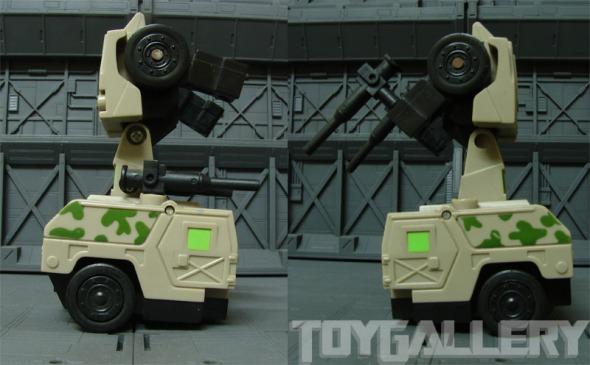 Ironhide bot mode guns