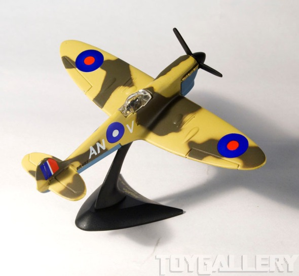 spitfire on stand - back view