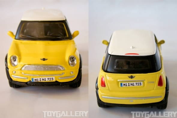 Front and Back view - MINI Cooper - Maisto