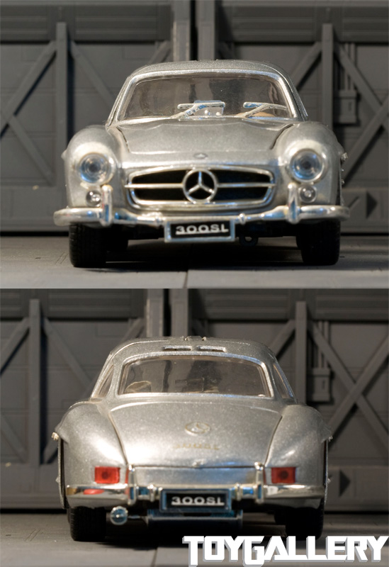 Mercedes-Benz 300SL front and back view